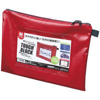 マグエックス 耐水メールバッグA4(マチなし)赤 MPO-A4R 1パック(5冊入)