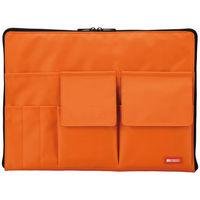 リヒトラブ バッグインバッグ A4 橙 A7554-4 1セット(3個:1個×3)