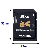 東芝 SDHC 8GB Class4 SD-L008G4