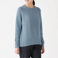 7f85ffb8cf55d 【SALE】 無印良品 リンクス編みクルーネックセーター 婦…