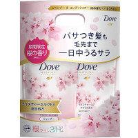 ダヴ(Dove) モイスチャーケア サクラ シャンプー&コンディショナー 各350g 詰め替えセット 1セット ユニリーバ