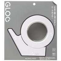 コクヨ テープカッター GLOO(グルー) 吸盤ハンディタイプ 大巻用 白 T-GM500W