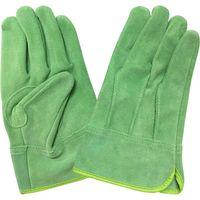 エースグローブ 作業手袋 牛革製 グリーン 女性用Mサイズ 現場系女子 AG2552 1双(直送品)