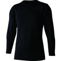 おたふく手袋 おたふく BT デュアルブラッシュド ヘビーウェイト クルーネックシャツ ブラック L JW-180-11-L 1枚 148-0555(直送品)