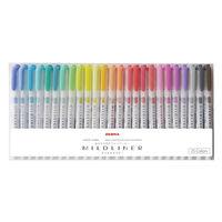 マイルドライナー 25色セット 蛍光ペン ツイン WKT7-25C ゼブラ