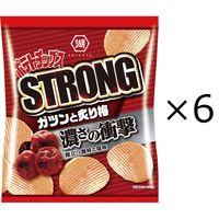湖池屋 ポテトチップスSTRONG ガツンと炙り梅 1セット(6袋)