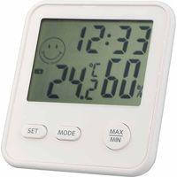 デジタルミニ温湿度計・時計 白 TD-8321 エンペックス (直送品)