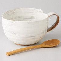 西海陶器 粉引 納豆鉢(さじ付) 42653 2個(直送品)