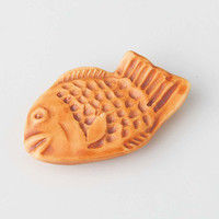 西海陶器 鯛焼き 箸やすめ 茶 59501 10個(直送品)