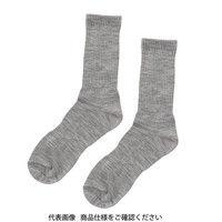 ミドリ安全 靴下 ベルデソックスeks 先丸 グレー L 1足 4039000130(直送品)