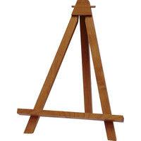ユーパワー 木製イーゼル(ミドルブラウン) Lサイズ WE-01302 (直送品)