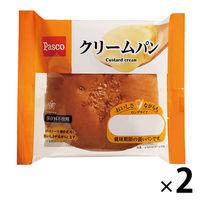 Pasco ロングライフパン クリームパン 1セット(2個入) 敷島製パン