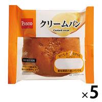 Pasco ロングライフパン クリームパン 1セット(5個入) 敷島製パン