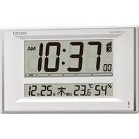 リズム時計 超薄型置掛兼用電波デジタル時計 8RZ198-003(直送品)
