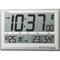 リズム時計 大画面置掛電波デジタル時計 8RZ199-019(直送品)