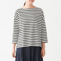 無印 太番手天竺編Tシャツ 婦人 M~L