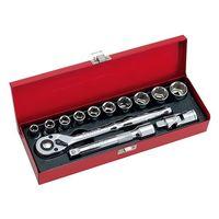 藤原産業 SK11 1/2ソケットレンチセット 12.7mm(1/2インチ) TS-413M 13PCS 1セット 62-2836-44(直送品)