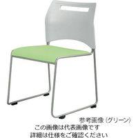 弘益(KOEKI) ミーティングチェア グリーン SFIDA GN 1個 3-8739-03 (直送品)