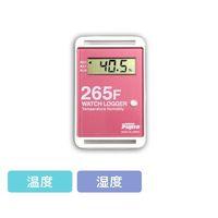 藤田電機製作所 サンプル別個別温度管理ロガー 温湿度タイプ 赤 KT-265F/R 1個 3-5298-07(直送品)