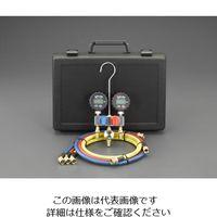 エスコ ボールバルブ式デジタルゲージマニホールドキット EA101TS-2 1セット (直送品)