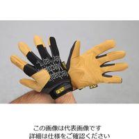 エスコ(esco) [L] 手袋・メカニック(合成革/黒・ブラウン) 1双 EA353BY-323(直送品)
