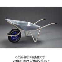 エスコ(esco) 1340x680x555mm/100kg 一輪車(ノーパンクタイヤ) 1台 EA520DB-1(直送品)