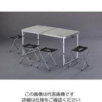 エスコ(esco) 1200x600x690mm/370mm テーブル・チェアーセット 1セット EA913YA-51(直送品)