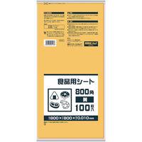 日本サニパック サニパック 食品用シート800角 黄 B08Y 1冊(100枚) 868-8543(直送品)