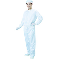 ブラストン(BLASTON) ブラストン 防塵ジャケット(立衿)ー白ーMサイズ BSC-42001-W-M 1着 115-8266 (直送品)