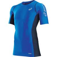 アシックス(ASICS) アシックス ウィンジョブハーフスリーブシャツ ブルー M CH5001.42-M 1着 103-8162(直送品)
