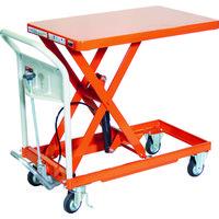 トラスコ中山(TRUSCO) TRUSCO ハンドリフタ 250kg 500X800 オレンジ HLFA-S250 1台 115-7832(直送品)