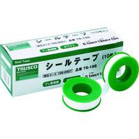 トラスコ中山(TRUSCO) TRUSCO シールテープ 13mmX15m T6-15S 1セット(10巻) 100-0957 (直送品)