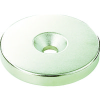 トラスコ中山(TRUSCO) TRUSCO ネオジム丸径磁石 皿ネジ穴付 外径9mm×3mm M2 1個入り T09R03-M2 115-6903 (直送品)