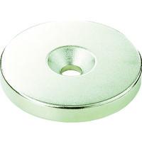 トラスコ中山(TRUSCO) TRUSCO ネオジム丸径磁石 皿ネジ穴付 外径11mm×3mm M3 1個入り T11R03-M3 115-6906 (直送品)