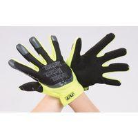 エスコ(esco) [LL] 手袋・メカニック(合成革/蛍光イエロー/耐切創) 1セット(2双) EA353BX-164(直送品)