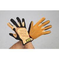 エスコ(esco) [M] 手袋・メカニック(革/ブラウン) 1セット(2双) EA353BY-202(直送品)