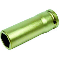 ENDRES-TOOLS A-MAG 防爆6角インパクト用ディープソケット差込角1/2インチ用 対辺8mm 0351041S 115-0504 (直送品)