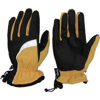 おたふく手袋 おたふく ホットエースプロライト リフレクタータイプ イエロー×ブラック LL HA-328-YB-LL 1双 758-2200(直送品)