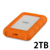 LaCie Rugged USB3.1 Type-C 2TB 2EUAP9 1個(直送品)