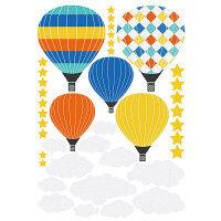 マッチングジャパン ウォールステッカー かわいい DIY シール「お空に気球」 TS-7001-ASS(直送品)