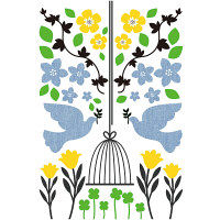 マッチングジャパン ウォールステッカー かわいい DIY シール「幸運の鳥」 TS-7008-ASS(直送品)