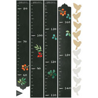 マッチングジャパン ウォールステッカー かわいい DIY シール「鳥メモ身長計」 TS-7012-ASS(直送品)
