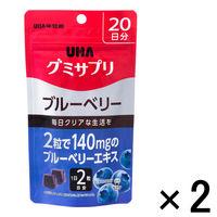 UHAグミサプリ ブルーベリー 1セット(20日分×2袋) UHA味覚糖 サプリメント
