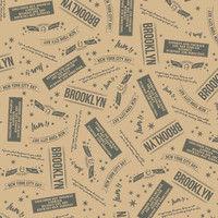 シモジマ 包装紙 半才 ブルックリン 002411038 1セット(50枚入×10)(直送品)