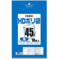 シモジマ HDポリ袋 #012 45L 青 006601303 1セット(10枚入×100)(直送品)