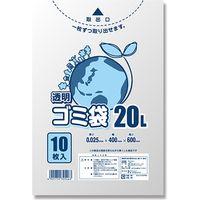 LD透明ゴミ袋 #025 20L 006604780 1セット(10枚入×100)(直送品)