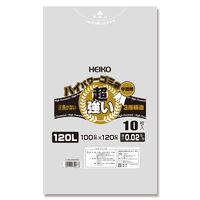 シモジマ ハイパワー半透明ゴミ袋 120L #02(3層) 006605004 1セット(10枚入×30)(直送品)