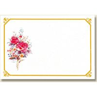 HEIKO ファッションカード M H345-04 ローズ 007234504 1セット(5束) (直送品)