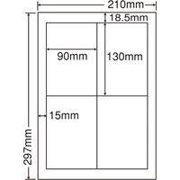 CWL-5(S) 和紙ラベル A4 4面 007430354 1セット(100袋) (直送品)