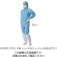 東洋リントフリー クリーンウェアフード一体ツナギ服(男女兼用) ブルー M FD175C-02 1枚 3-9706-02 (直送品)